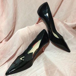 🌹NEW🌹Zara Woman Patton black with red heels 8